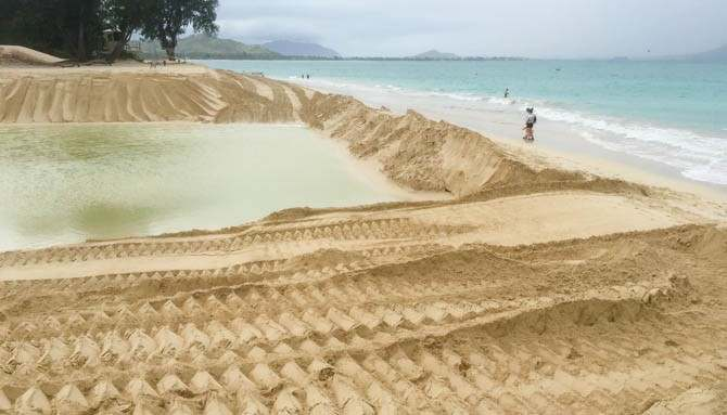 City spent two days pushing the sand around.