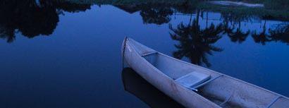 Canoe on a still evening.